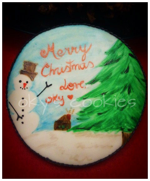 hand painted cookie 65